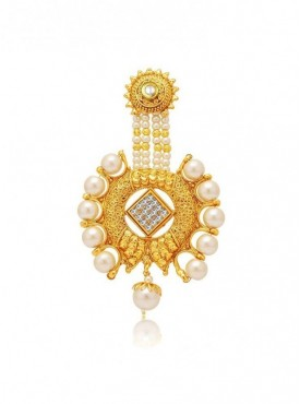 Roykals Textile White Color Alloy Gold Plated Imitation Jewellery-Passa