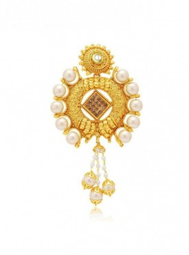Roykals Textile White Colored Alloy-Gold Plated Imitation Jewellery-Passa