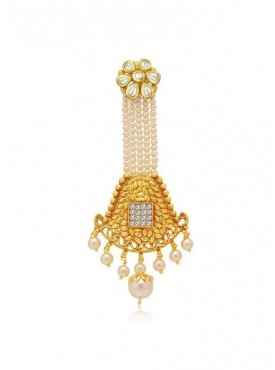 Roykals Textile White Color Alloy-Gold Plated Imitation Jewellery Passa