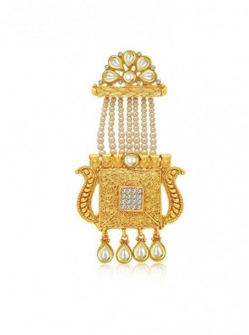 Roykals Textile White Color Alloy-Gold Plated Imitation Trendy Jewellery-Passa