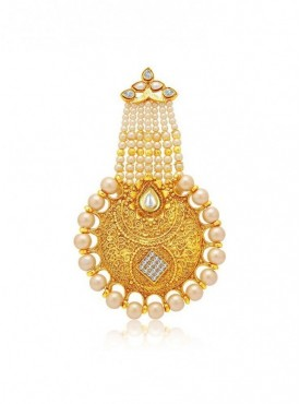 Roykals Textile White Color Alloy-Gold Plated New Imitation Jewellery-Passa