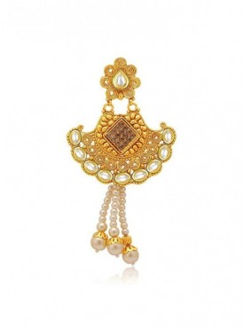 Roykals Textile White Color Alloy-Gold Plated Fancy Imitation Jewellery-Passa