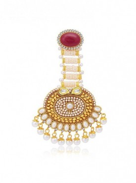 Roykals Textile White Color Copper-Gold Plated Imitation Jewellery-Passa