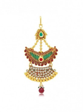 Roykals Textile Dark Red Color Copper-Gold Plated Imitation Jewellery-Passa