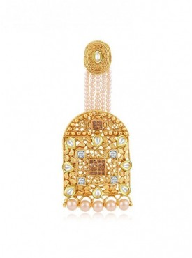 Roykals Textile White Color Alloy-Gold Plated Imitation Jewellery-Passa