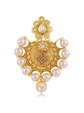 Roykals Textile Cream Color Alloy-Gold Plated Imitation Jewellery-Passa