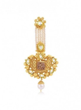 Roykals Textile Golden Color Alloy-Gold Plated Imitation Jewellery-Passa