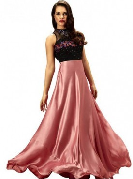Khwaab Rose Pink Floor Length Gown