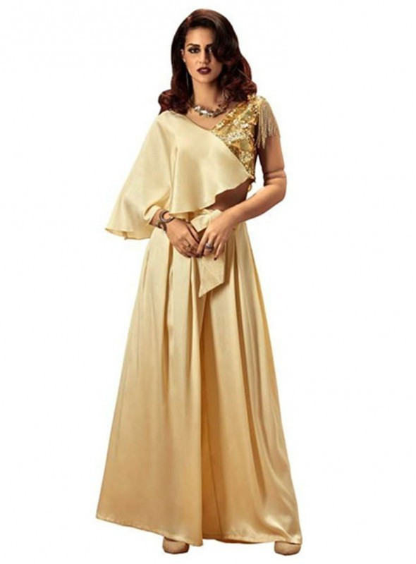 Khwaab Party Wear Dress featuring Crop Top & Palazzo Pants