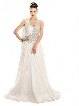 Khwaab Gorgeous One Shoulder Tie Wedding Gown