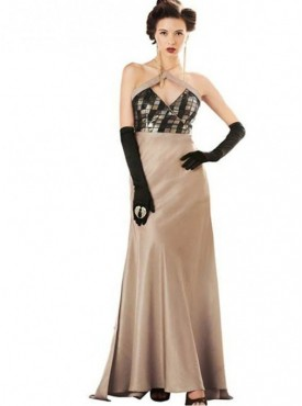 Khwaab Sequin Peach Puff Bias SheathGown
