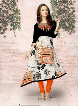 Roykals Textile Multi Color Rayon Designer Readymade Kurti