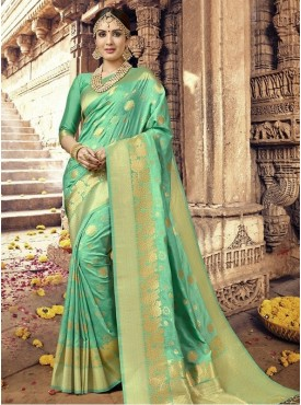 Roykals Textile Green Color Silk Exclusive Designer Saree