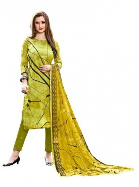 Viva N Diva Green Colored Cambric Cotton Salwar Suit