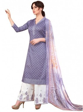 Viva N Diva Purple Colored Pure Satin Salwar Suit