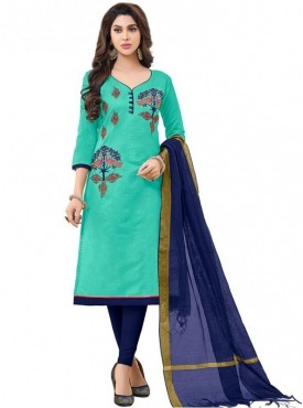 Viva N Diva Sea Green Colored Modal Salwar Suit