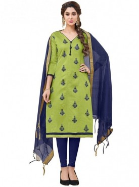 Viva N Diva Green Colored Modal Salwar Suit