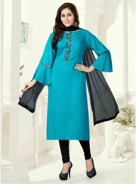 Roykals Textile Dark Green Color Rayon Letest Full Stitch Salwar Suits
