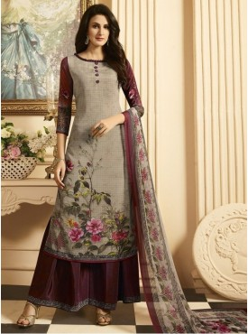 Roykals Textile Maroon Color Crepe  Heavy Digital Printed Salwar Suits