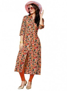 Viva N Diva Multi Colored Linen Kurti