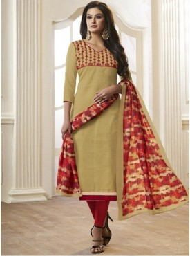 Roykals Textile Beige Color Letest  Cotton Salwar Suits