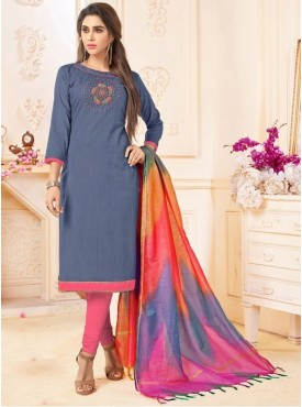 Roykals Textile Grey Color Letest  Cotton Salwar Suits