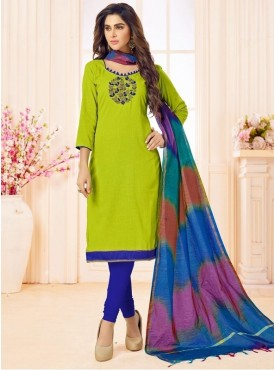 Roykals Textile Green Color Letest  Cotton Salwar Suits