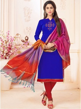 Roykals Textile Blue Color Letest  Cotton Salwar Suits