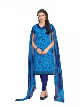 Viva N Diva Blue Colored Cotton Printed Salwar Suit